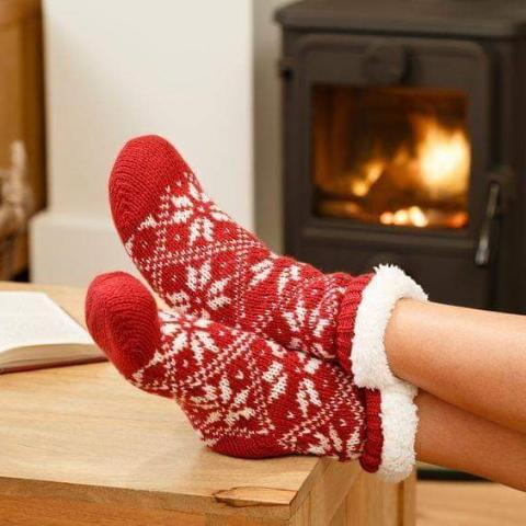Cozy Sherpa Socks