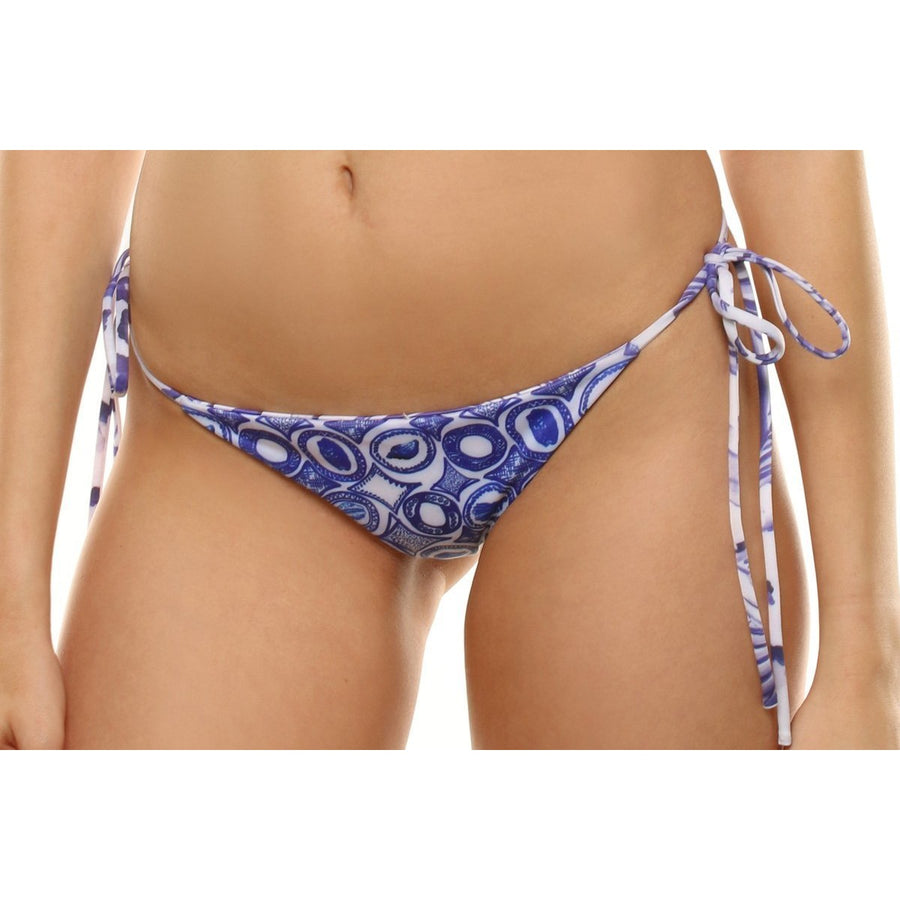 Elysian Swim Bottoms Aloha Bottoms - Blue Palm/Seashell
