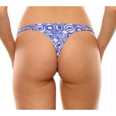 Elysian Swim Bottoms Balmy Bottoms - Blue Palm/Seashell