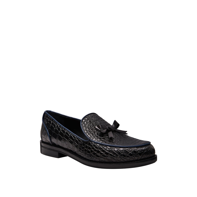 Keaton Loafer - Croc Black