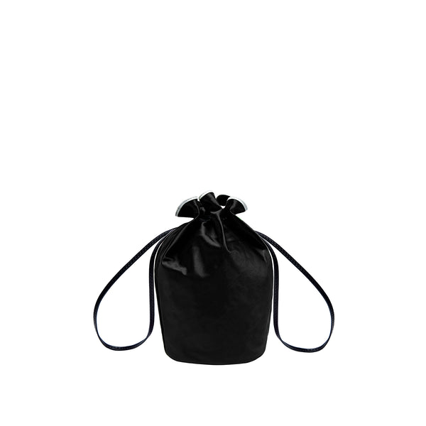 Miss Daisy Satin Pouch - Black