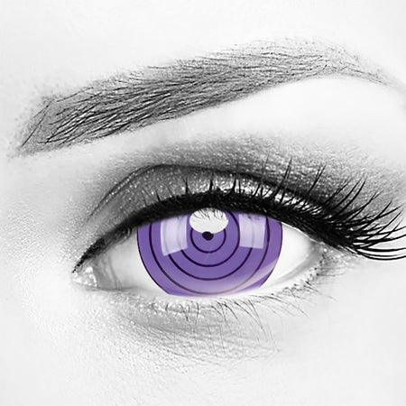 Sharingan Rinnegan Purple Mini Sclera 17mm Contacts (New)