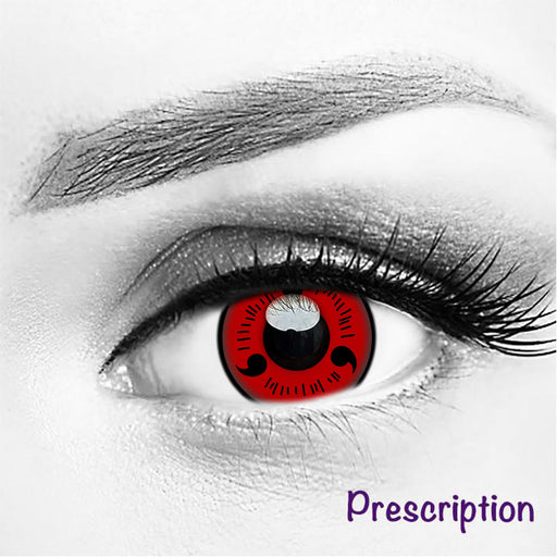 Customized Rx Sharingan NARUTO THREE MAGATAMA (Prescription) Contacts
