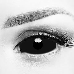 Black Sclera Contact Lenses 22mm (Full Eye)