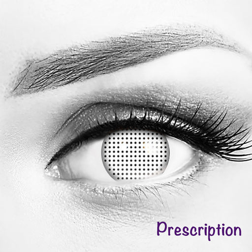 Customized Rx White Mesh Contact Lenses (With Prescription)