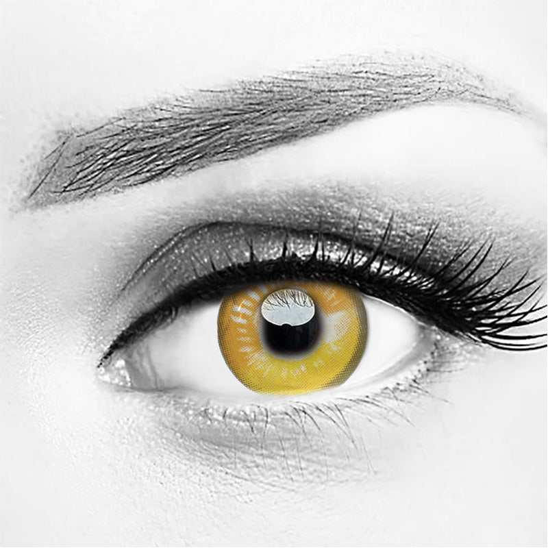 Anime Yellow Costume Contacts