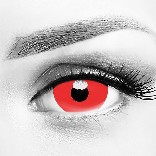 Mini Sclera Red 17mm Contact Lenses