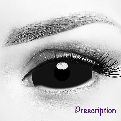 Prescription Black Sclera 22mm Contacts