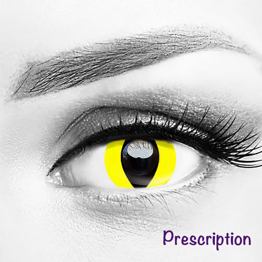 Prescription Yellow Cat Eye Halloween Contacts