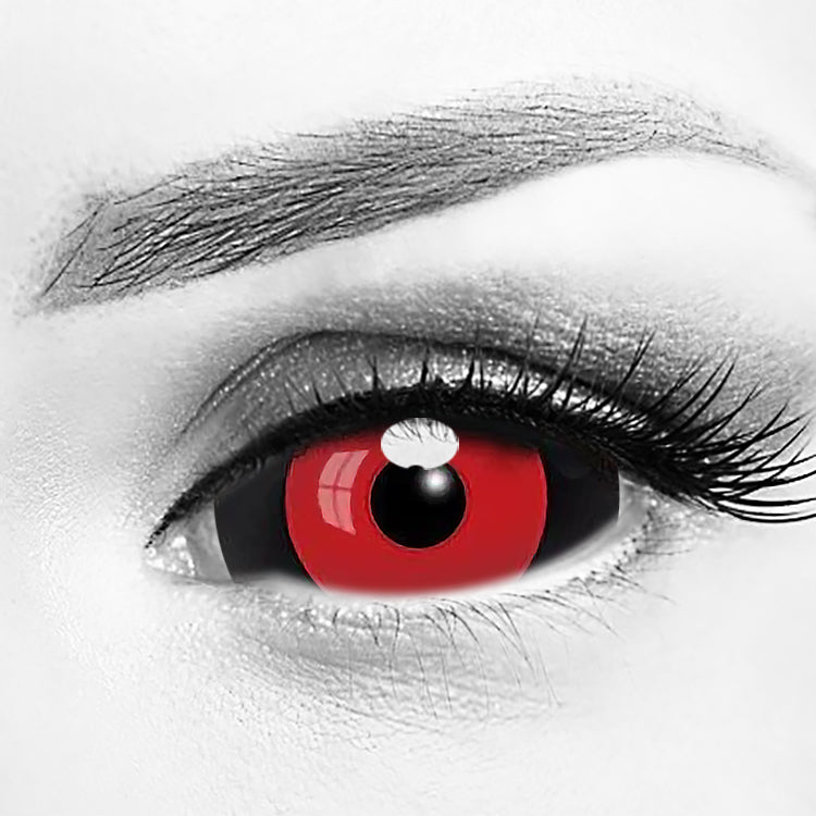 Tokyo Ghoul Sclera Rize Kamishiro Red & Black Lens