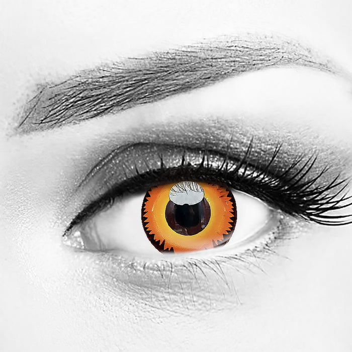 Orange Werewolf Eyes Halloween Contact Lenses