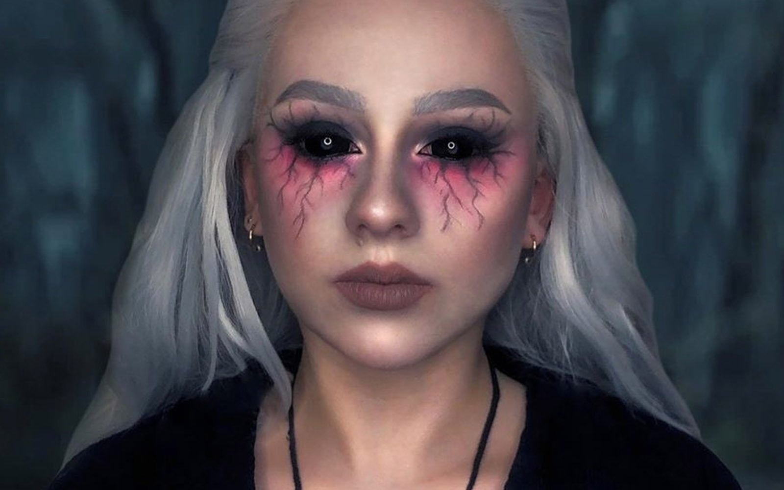 Black Colored Out Contacts | Black Sclera Lenses | Halloween Black Con,