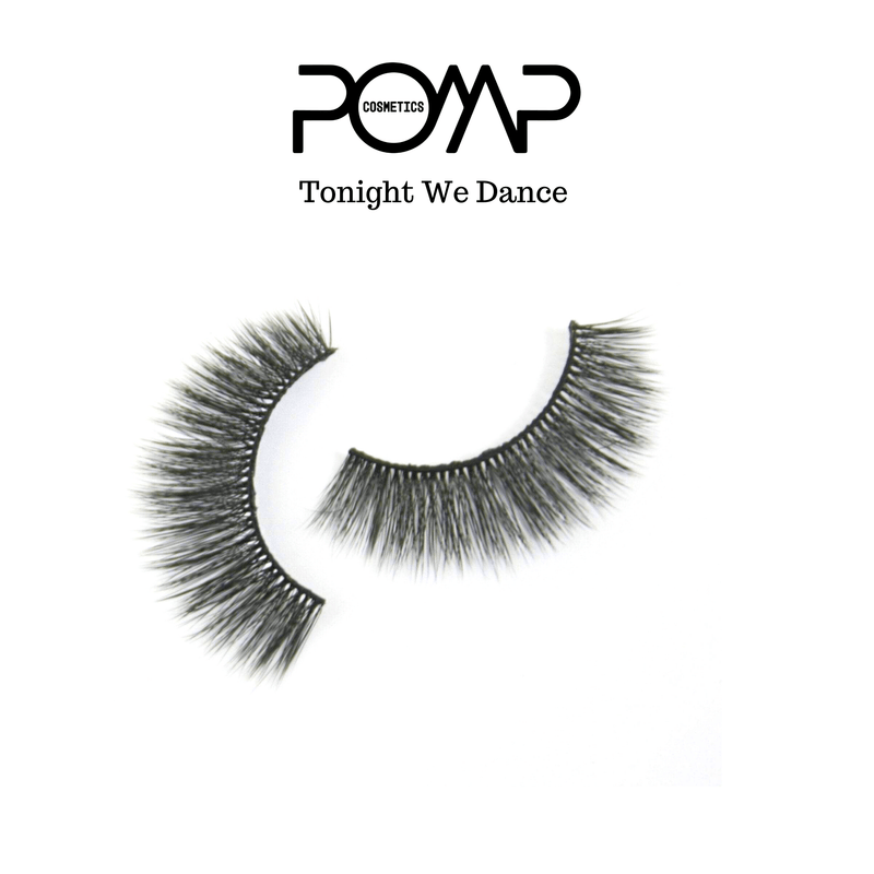 TONIGHT WE DANCE POMP & SHOW LASHES. Premium quality, cruelty free lashes that are pre-trimmed, pre-feathered with a glue tube in all box kits. (119143235592)