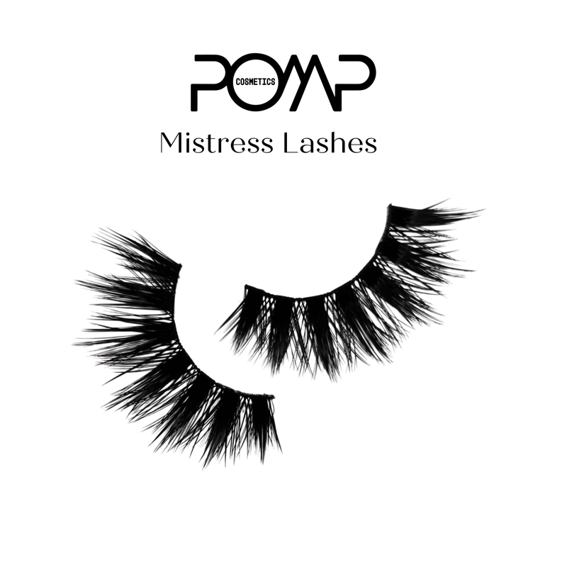 3D Mistress POMP & SHOW Lashes. Premium quality, cruelty free lashes that are pre-trimmed, pre-feathered with a glue tube in all box kits. (119220994056)