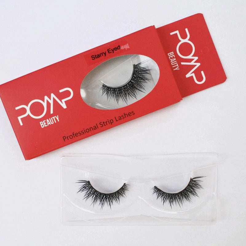 STARRY EYED POMP AND SHOW LASHES Premium quality, cruelty free lashes that are pre-trimmed, pre-feathered with a glue tube in all box kits. (10218828040)