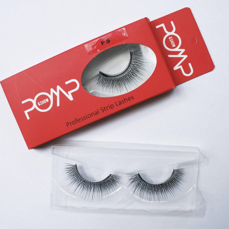 P.S POMP & SHOW Lashes. Premium quality, cruelty free lashes that are pre-trimmed, pre-feathered with a glue tube in all box kits. (119217881096)