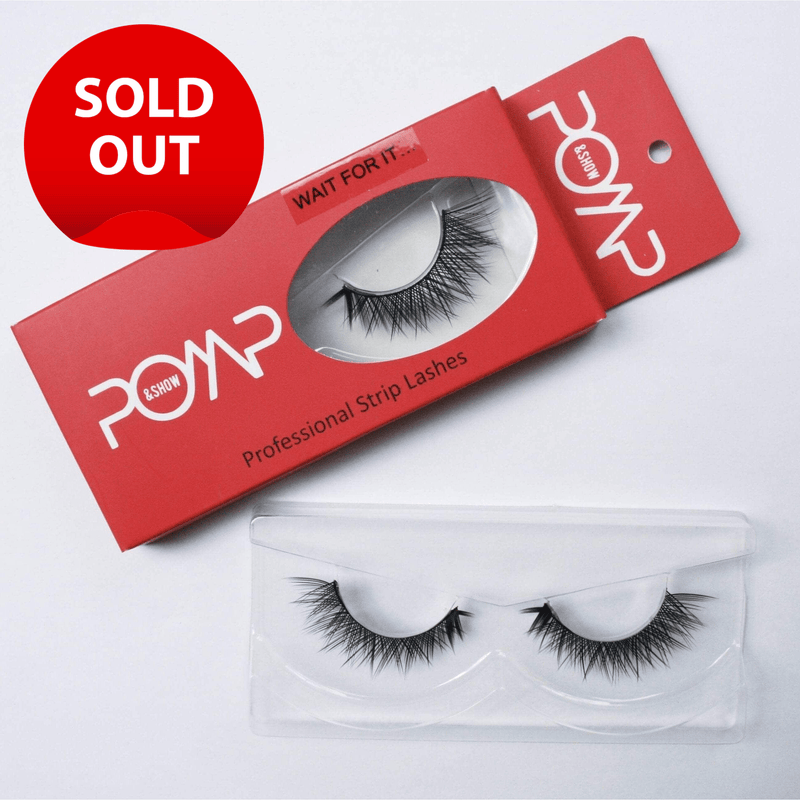 WAIT FOR IT. POMP & SHOW Lashes.Premium quality, cruelty free lashes that are pre-trimmed, pre-feathered with a glue tube in all box kits. (119173414920)