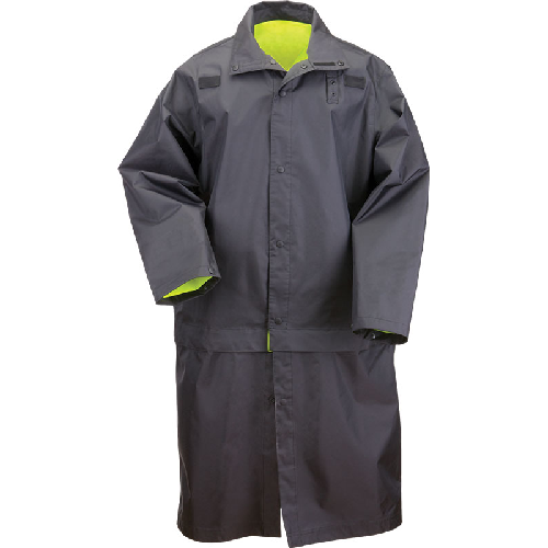 Long Rev Hi-Vis Rain Coat