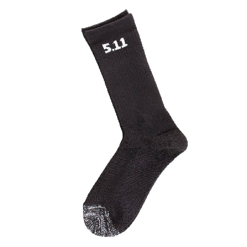 "3 Pack 6"" Socks Black"