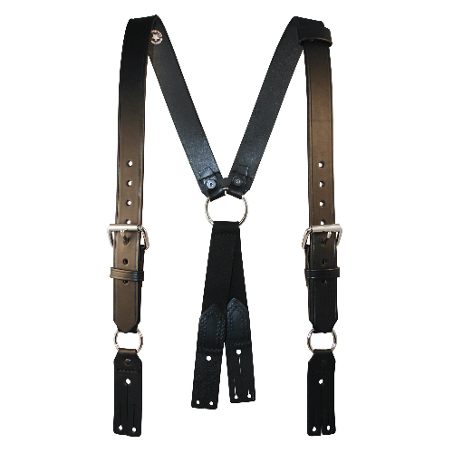 BOSTON - FIREMAN'S LEATHER SUSPENDERS