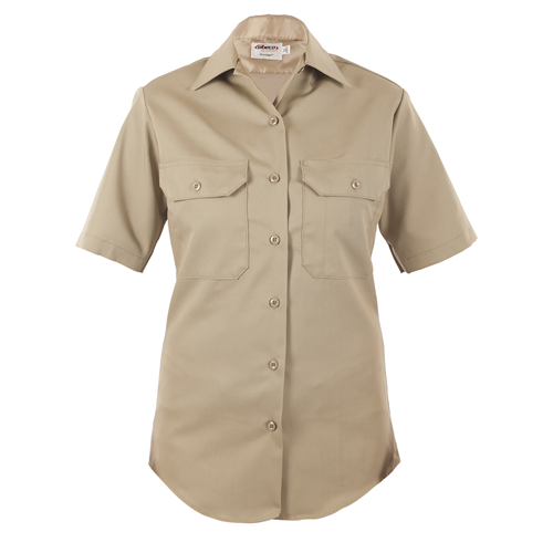 Womens, Silver Tan, LA County Sheriff West Coast Short Sleeve Shirt, Class B
