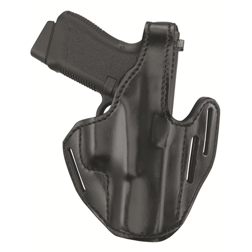 GOULD AND GOODRICH -LEATHER 3 SLOT PANCAKE HOLSTER