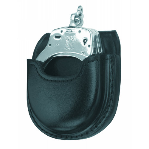 GOULD AND GOODRICH -LEATHER OPEN TOP HANDCUFF CASE