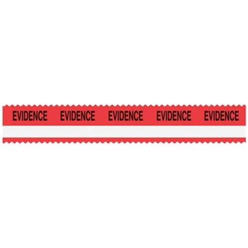 "Sirchie - SIRCHMARK™ Evidence Integrity Tape Red w- White stripe w- Black ""Evidence"" 108'"