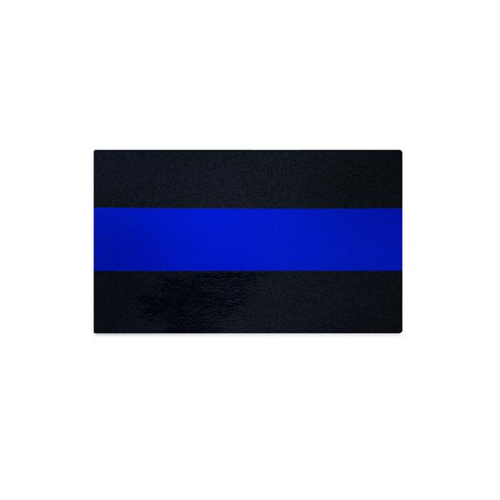 Classic Thin Blue Line Car Decal, 3 x 5 Inches, Reflective
