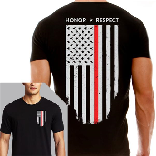Men's T-Shirt - Thin Red Line Flag