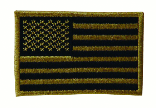 Embroidered USA Military Flag Patches