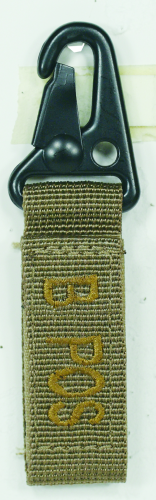 Embroidered Blood Type TAgs with Velcro and Metal Clip