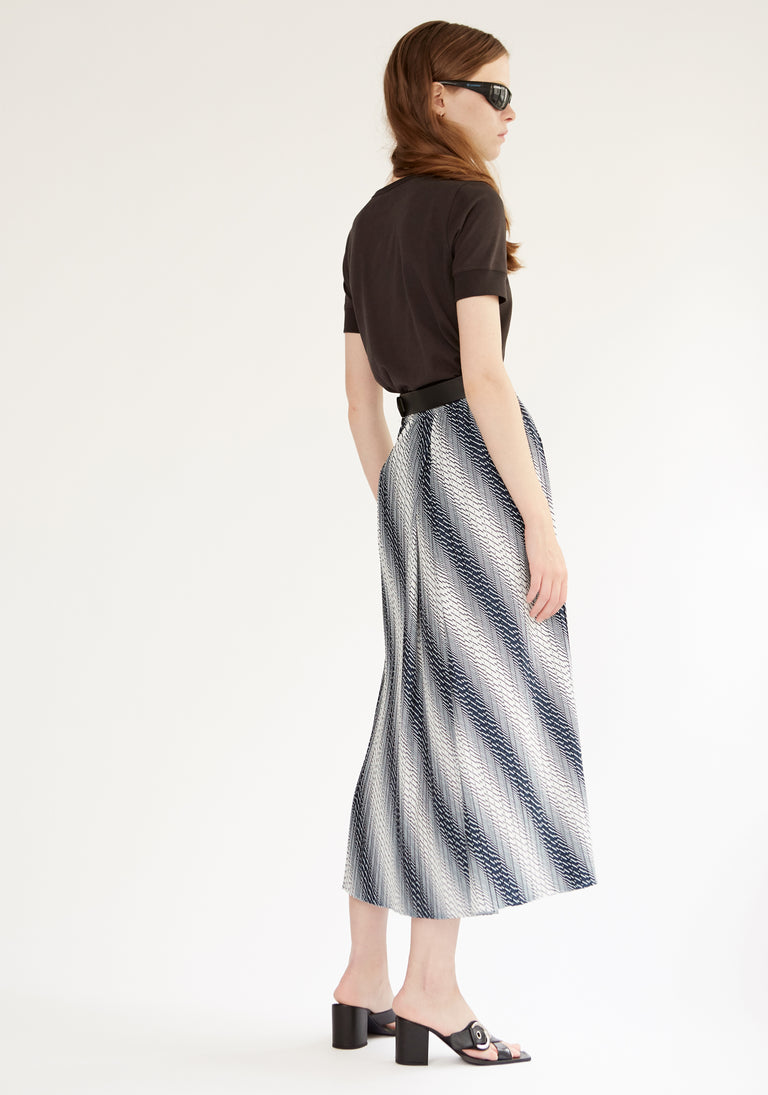 Pleated Wrap Skirt