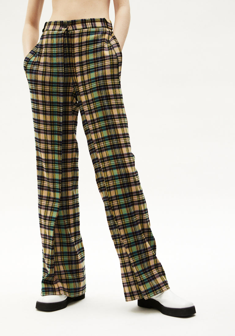 Flared Trousers with Pleats