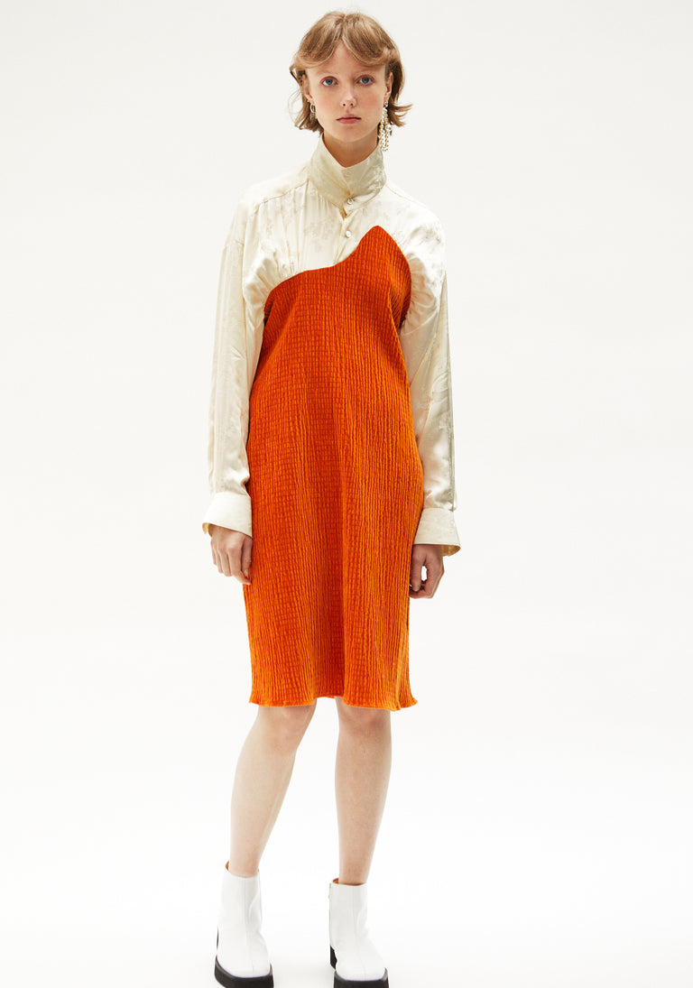 Shirt Dress Orange