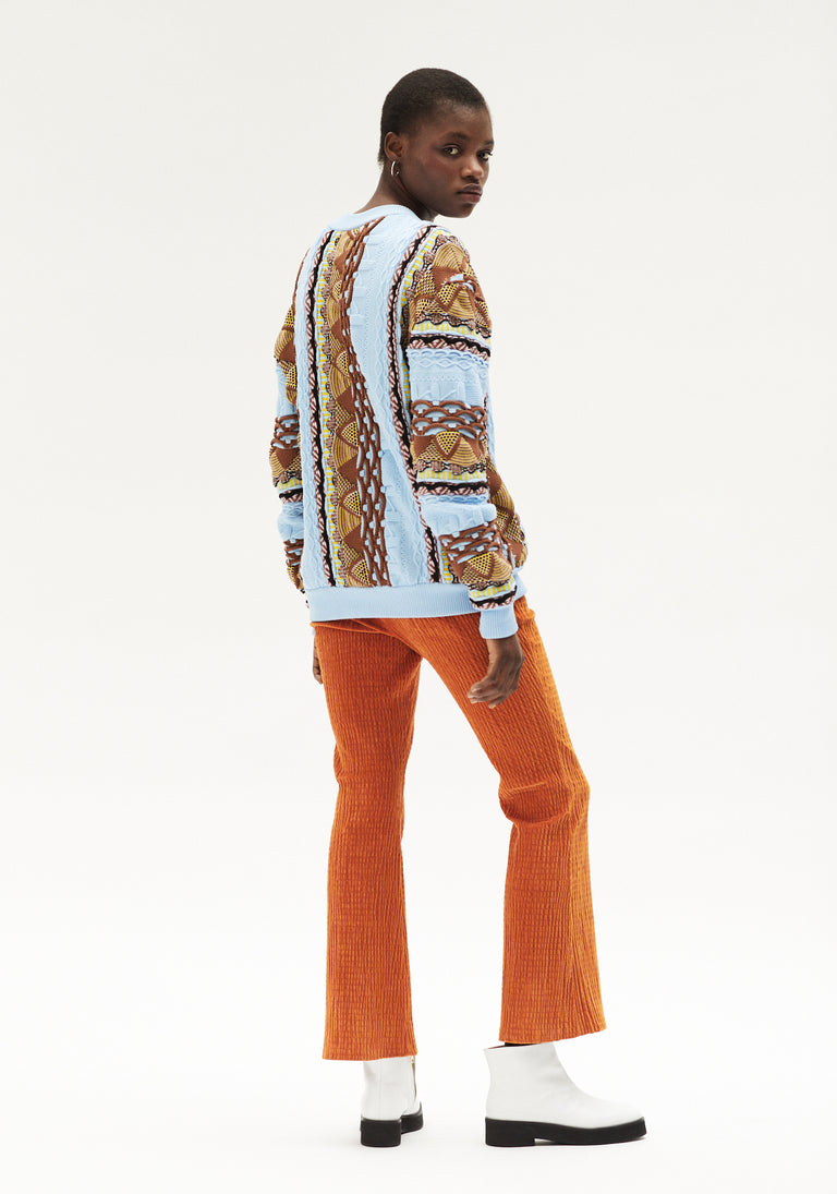 Flared Trousers Orange