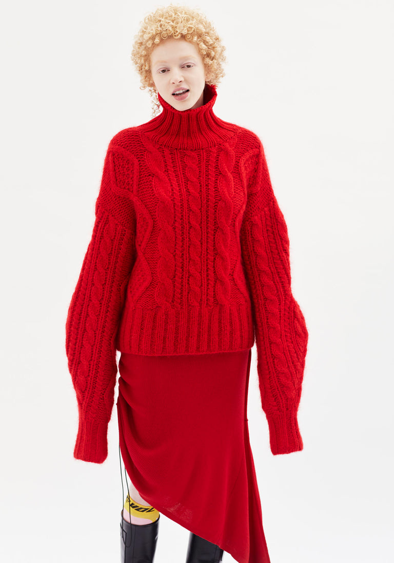Knit With Asymmetric Sleeves