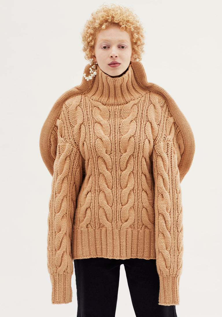 Sculptural Cable Knit