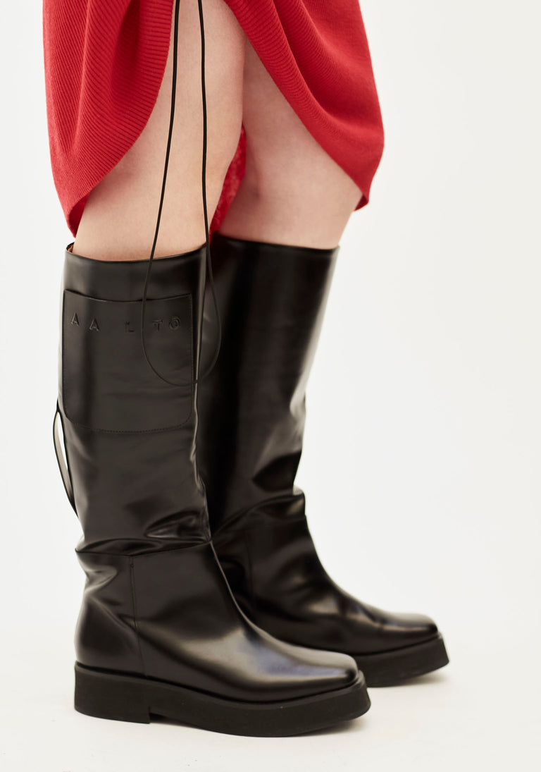 Knee High Flat Boot