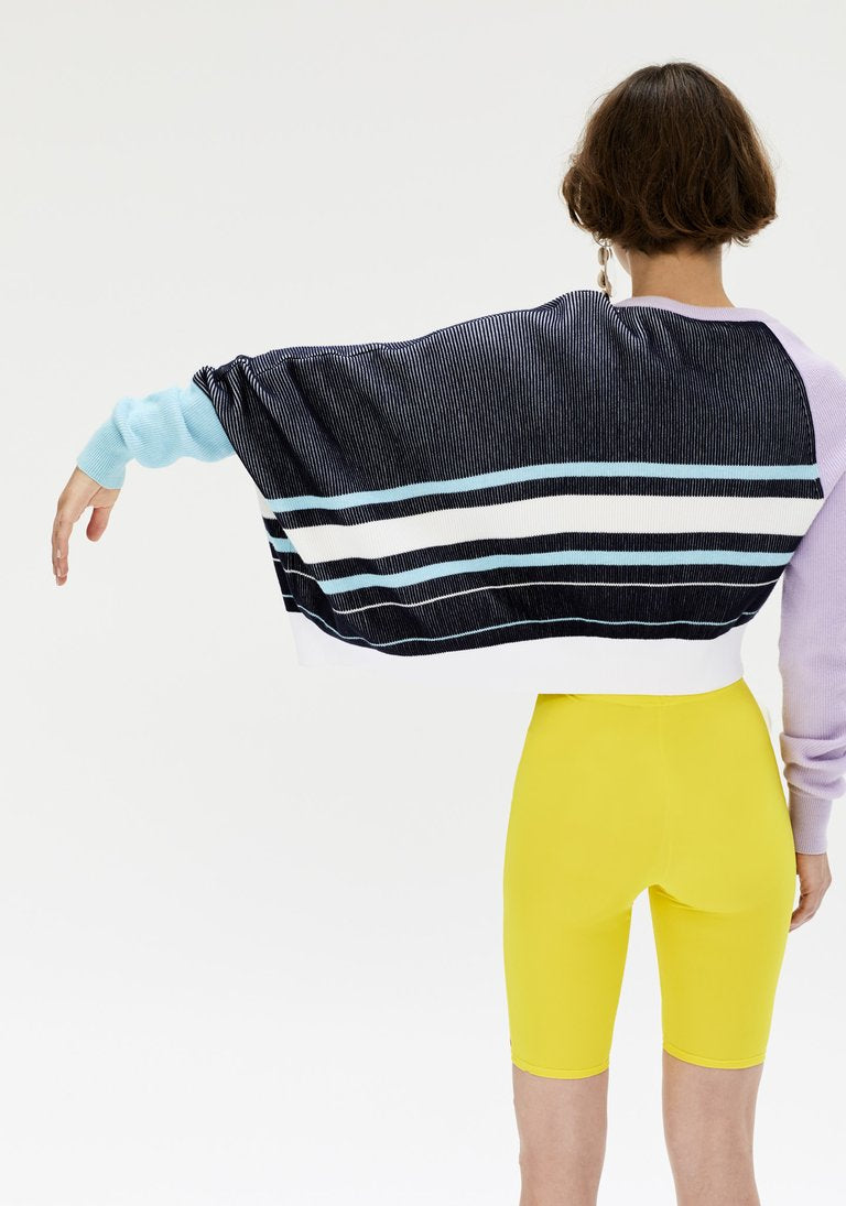Cropped Drape Knit