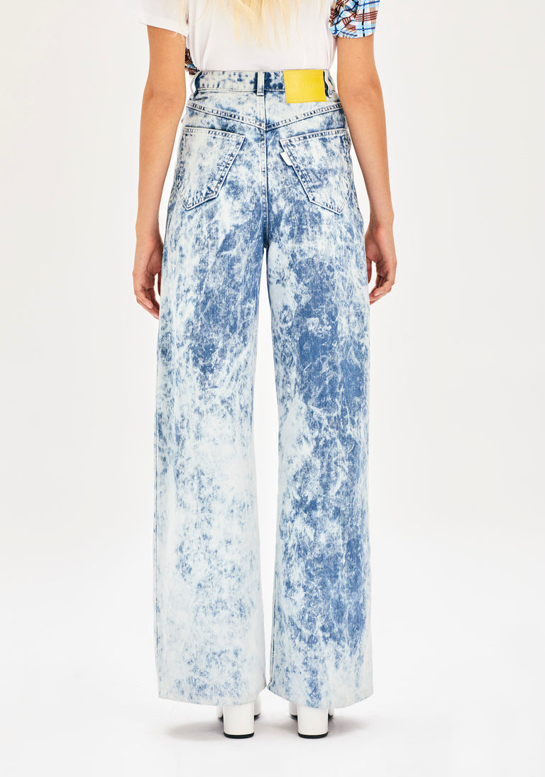 High Rise Tie and Dye Jeans