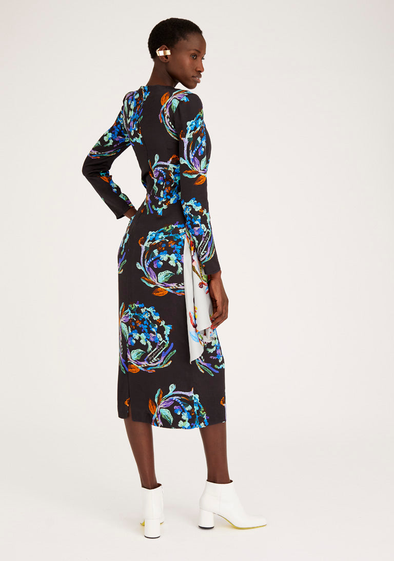 Long Sleeves Printed Dress