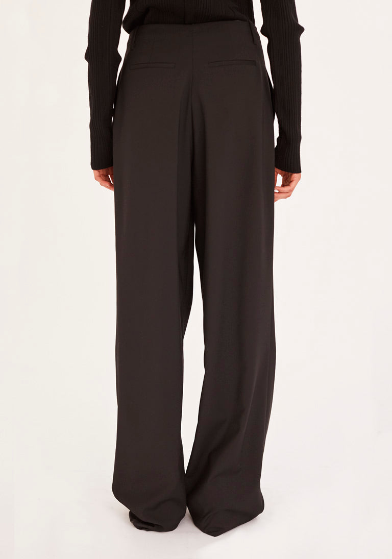 Front Pleats Wool Tailored Trouser