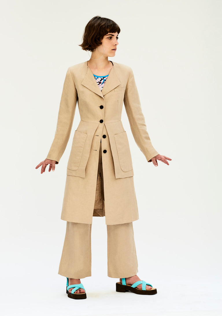 Long Tailored Coat