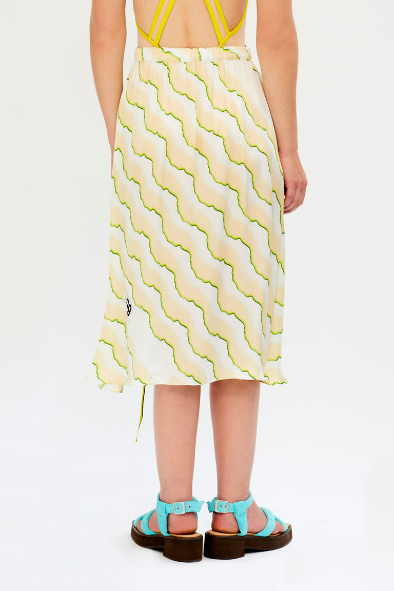 Wrap Skirt with Print