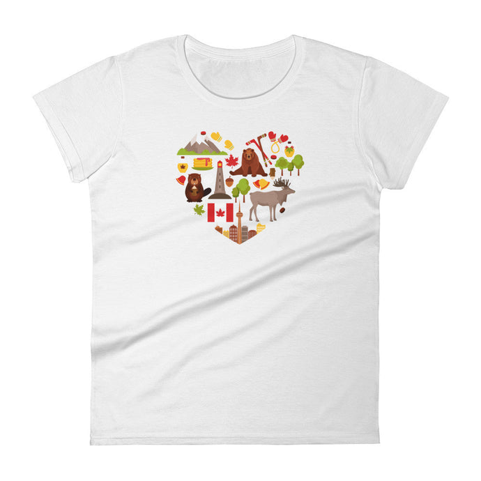 I <3 Canada - women's t-shirt (colors available)