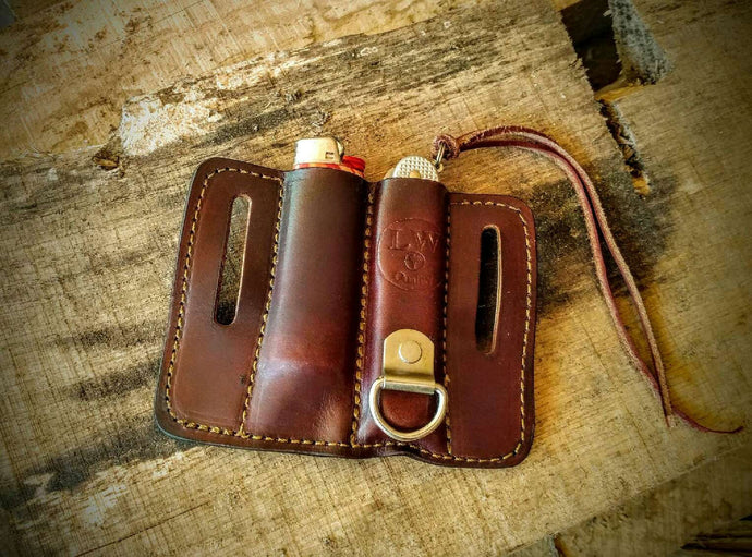 The Lonewoodsman EDC Knife and Lighter Sheath The