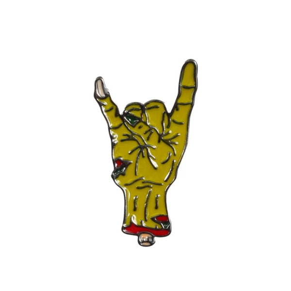 Zombie metal hand Pin