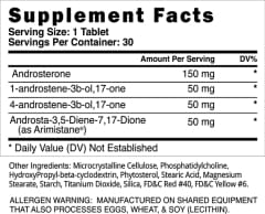 Blackstone Labs Methaquad - Supplement Facts