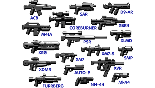 Brickarms Sci-Fi Weapons Pack 2017 Aseet